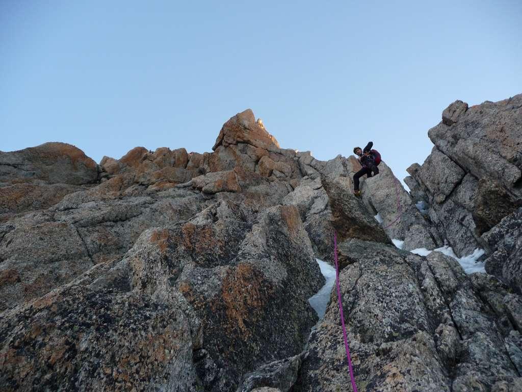Durante la salita...passaggi di roccia mai estremi sul granito del Monte Bianco