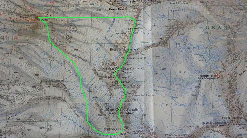 Tracciato sulla carta: quasi 3 km di cresta!