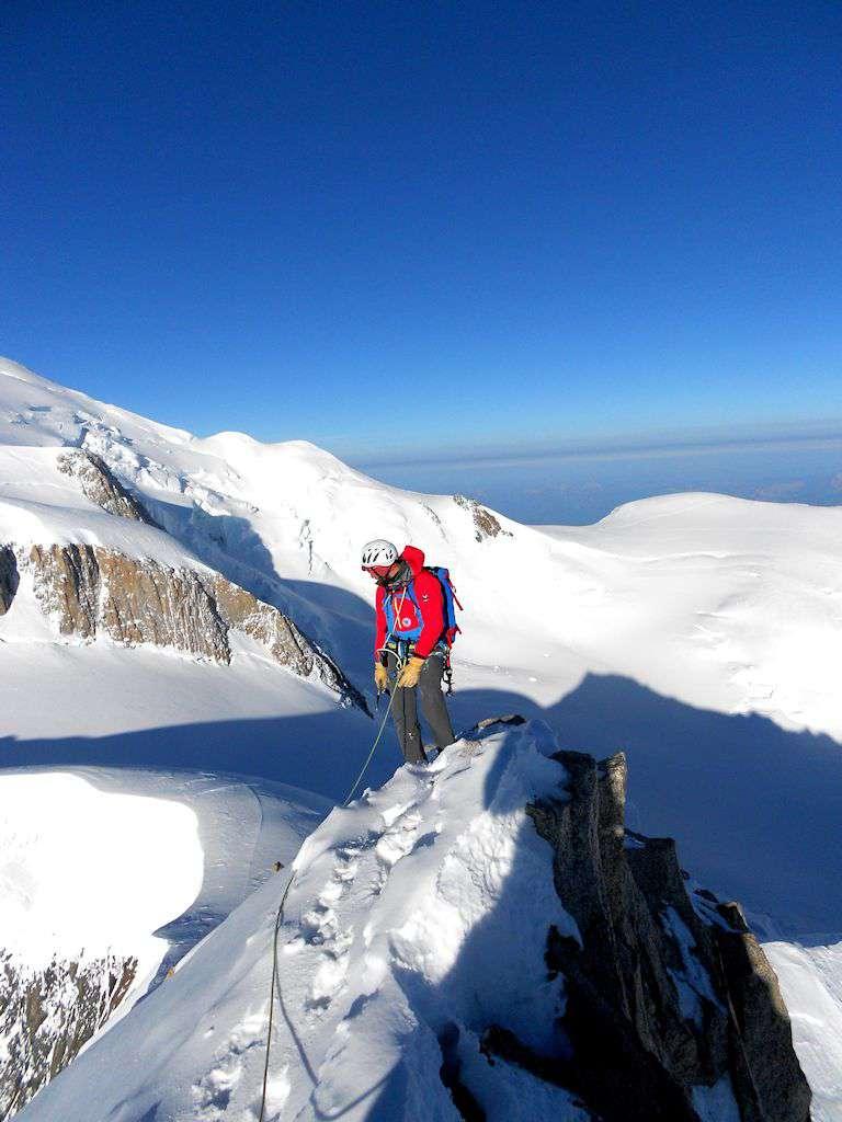 Enrico in cima al Mont Maudit