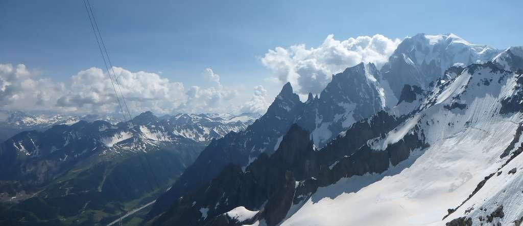 Panorama dal rifugio Torino.