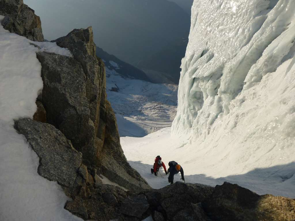 Ultimi metri di dislivello per arrivare ai seracchi...più impressionanti che pericolosi e difficili.