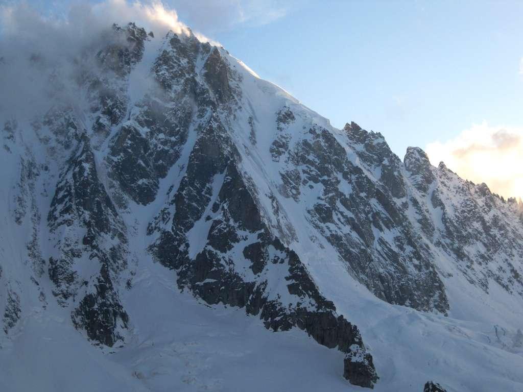 il versante N della Grande Rocheuse, bacino dell'Argentiere