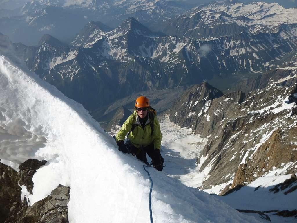 Sul fil di cresta le buone condizioni ci fanno rilassare.