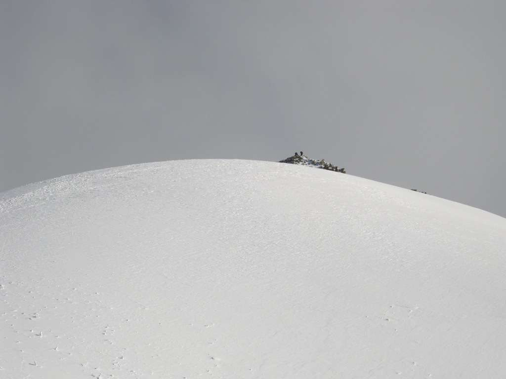 la calotta glaciale del Petit Mont Blanc...siamo quasi in cima