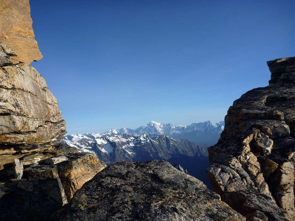 E dall'altra il Monte Bianco!