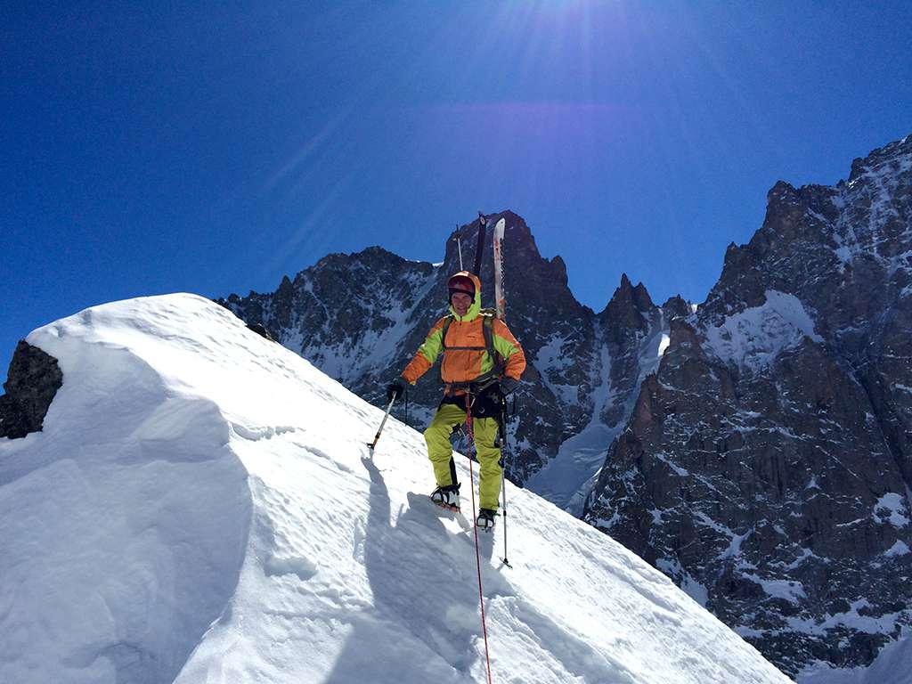 The man! Matteo in posa eroica nei pressi della cima.