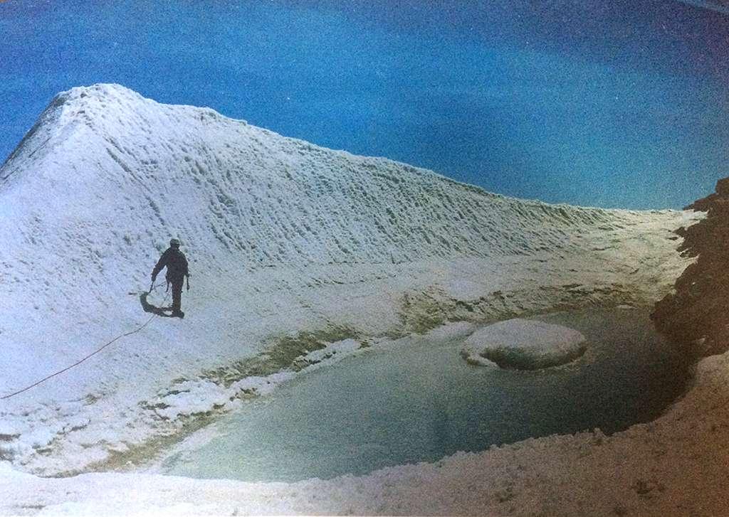 La vetta della Roccia Viva negli anni '80.
