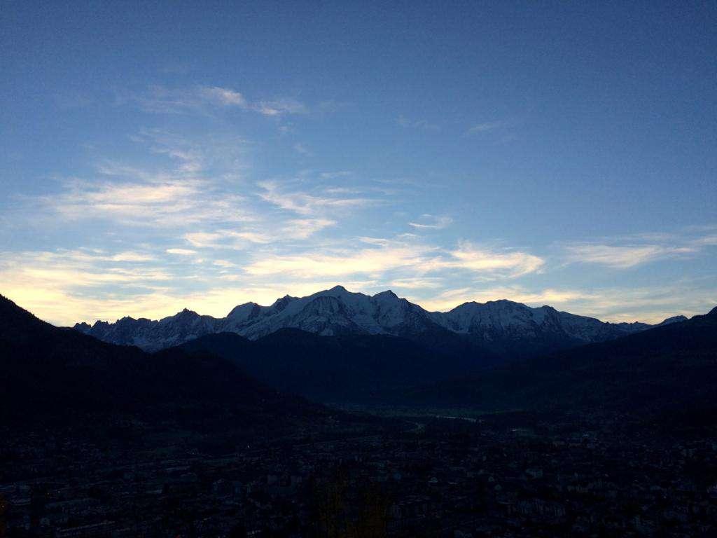 Tramonto sul Monte Bianco.