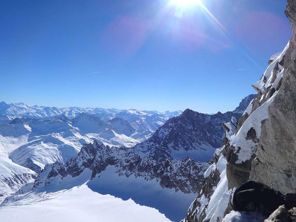Il Mont Greuetta nel suo splendore invernale.