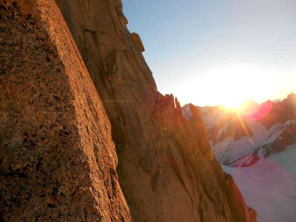 L'alba rossa sul pilier.