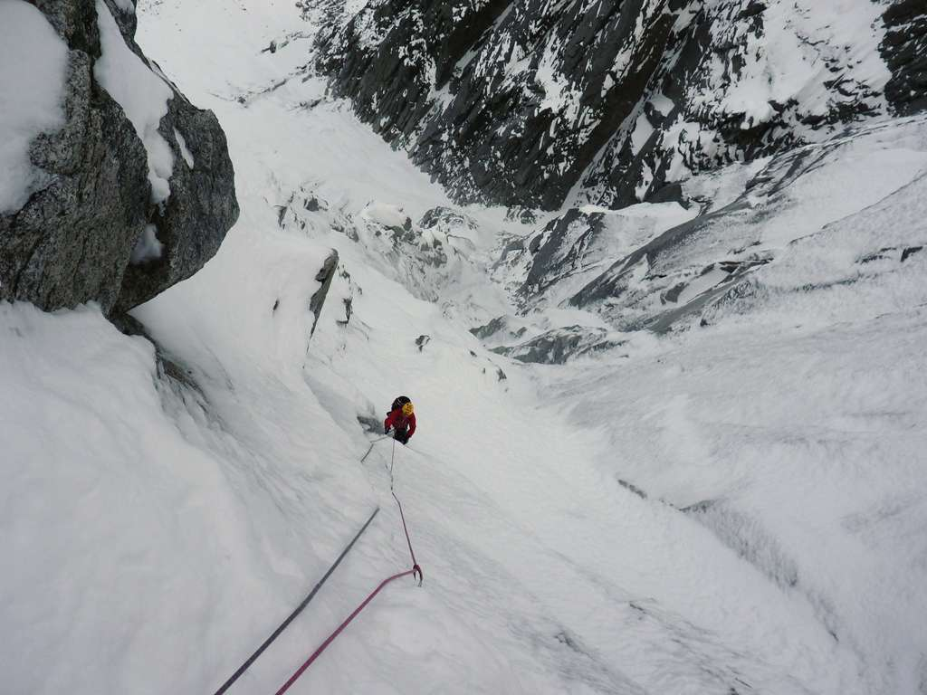 Gian su L11...la neve copre la prospettiva e i piani...