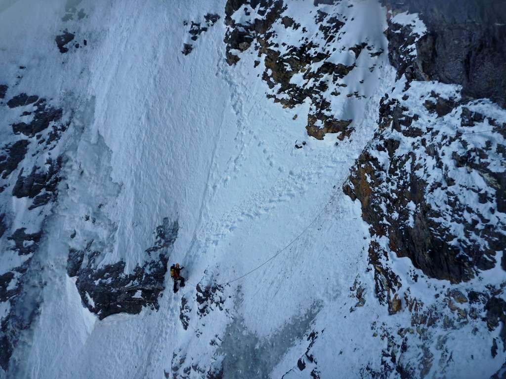 il camino della cascata...quand'è secco è più impressionante che difficile