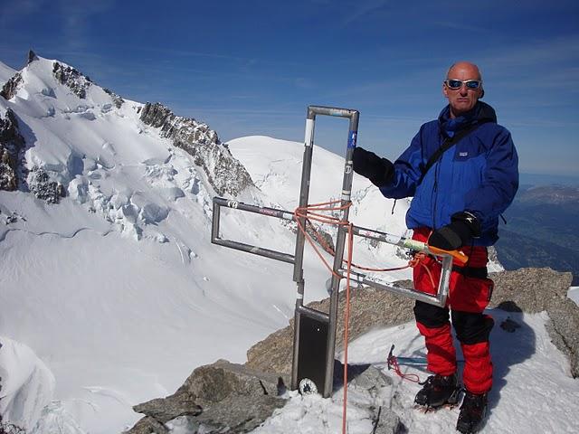 Matteo in cima al Mont Blanc du Tacul...
