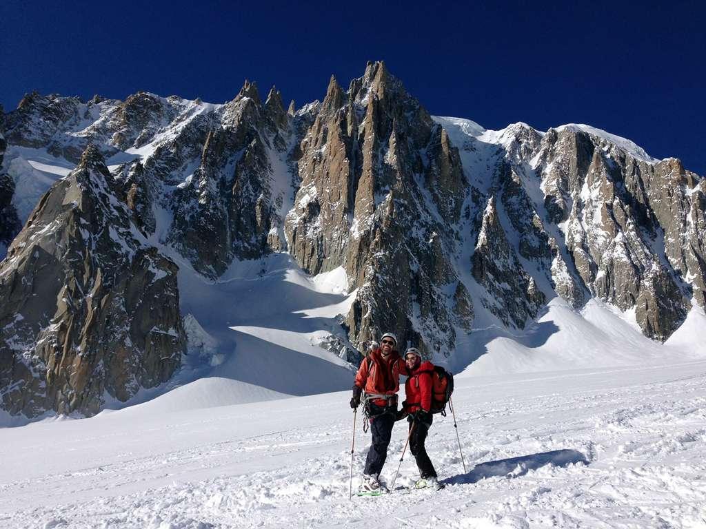 Giornata perfetta...discesa della Vallée Blanche quasi in solitaria circondati da una montagna incantevole