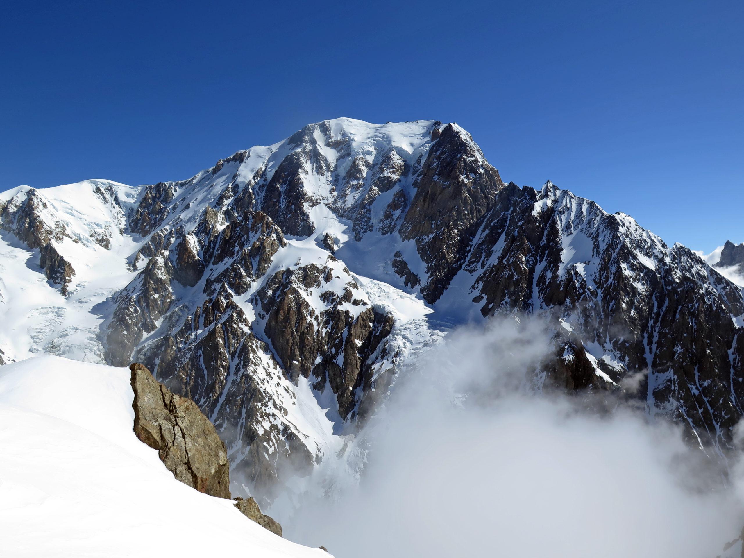 Il versante W del Monte Bianco